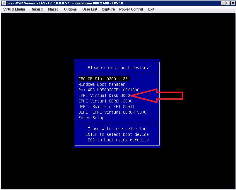 Installing an Operating System via IPMI (Virtual Media